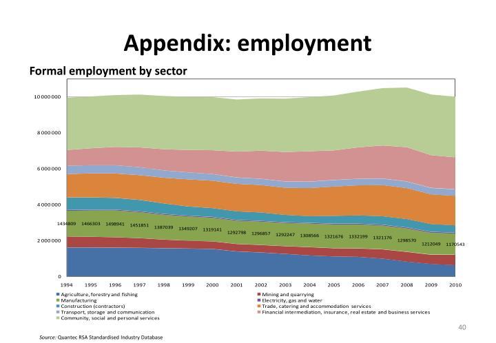 Appendix: employment