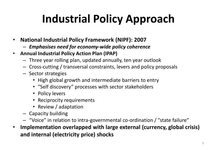 Industrial Policy Approach