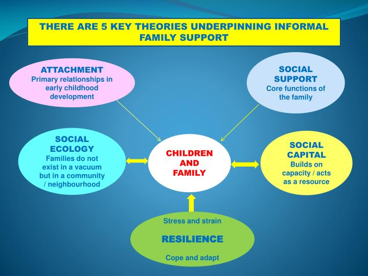 THERE ARE 5 KEY THEORIES UNDERPINNING INFORMAL FAMILY SUPPORT