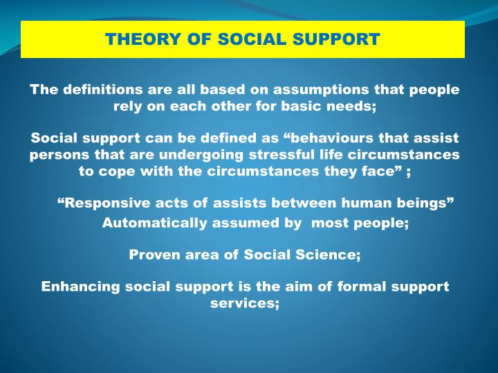 The definitions are all based on assumptions that people rely on each other for basic needs;