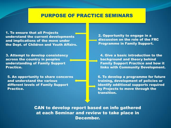 PURPOSE OF PRACTICE SEMINARS