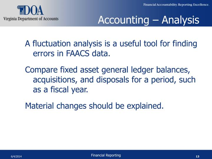 Accounting – Analysis