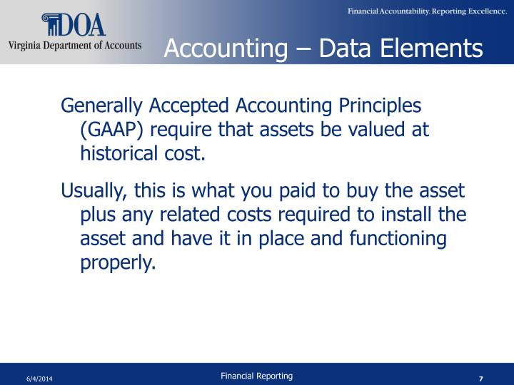 Accounting – Data Elements