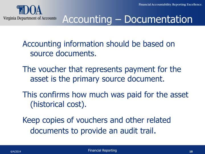 Accounting – Documentation