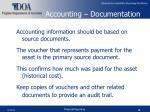 accounting documentation