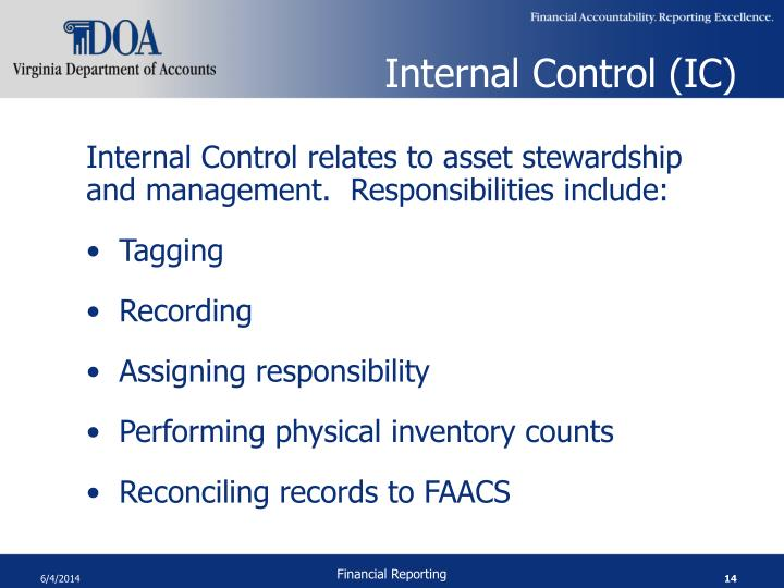 Internal Control (IC)