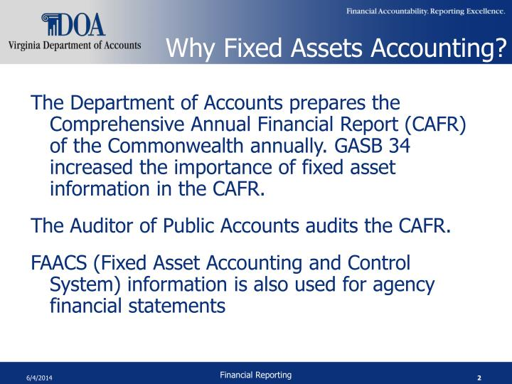 Why Fixed Assets Accounting?