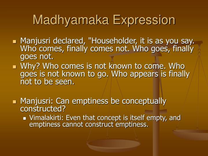 Madhyamaka Expression
