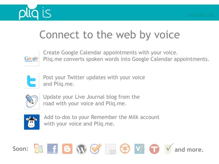 Connect to the web by voice
