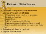 revision global issues
