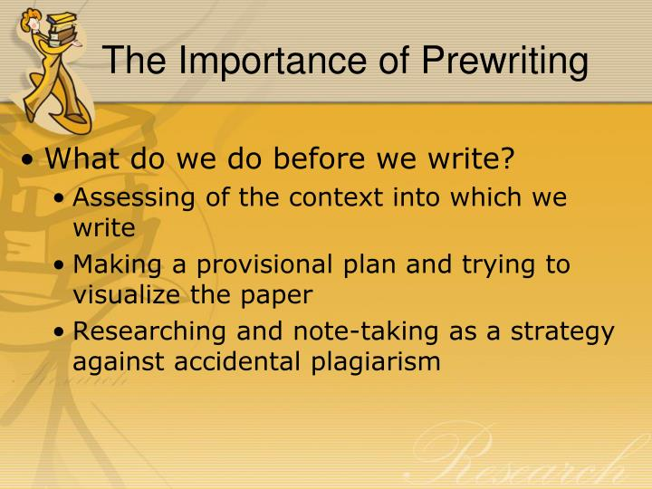 The Importance of Prewriting