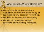 what does the writing centre do