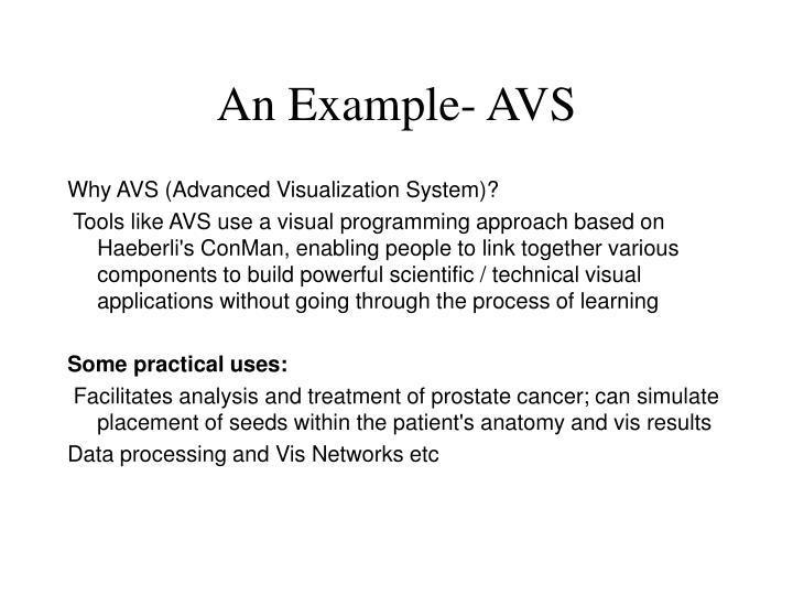 An Example- AVS