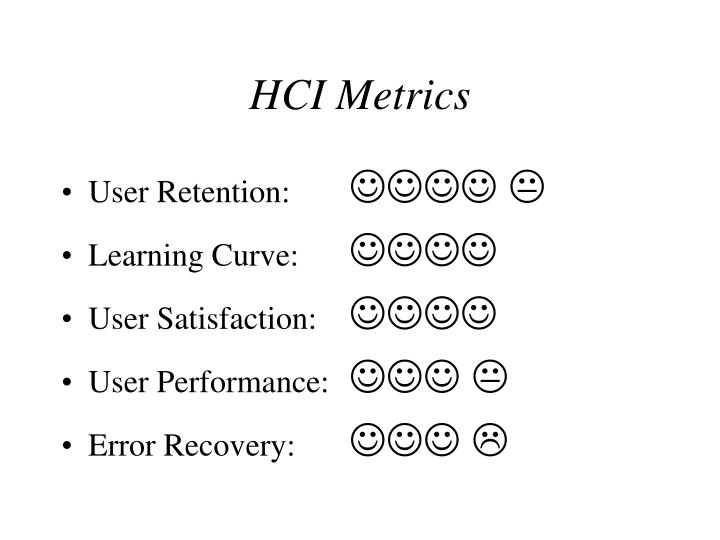 HCI Metrics