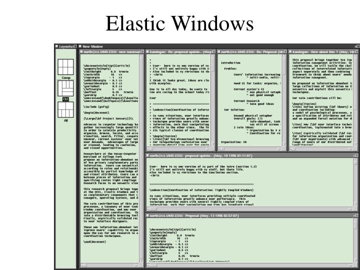 Elastic Windows