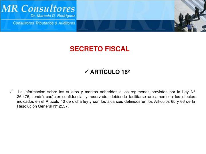SECRETO FISCAL