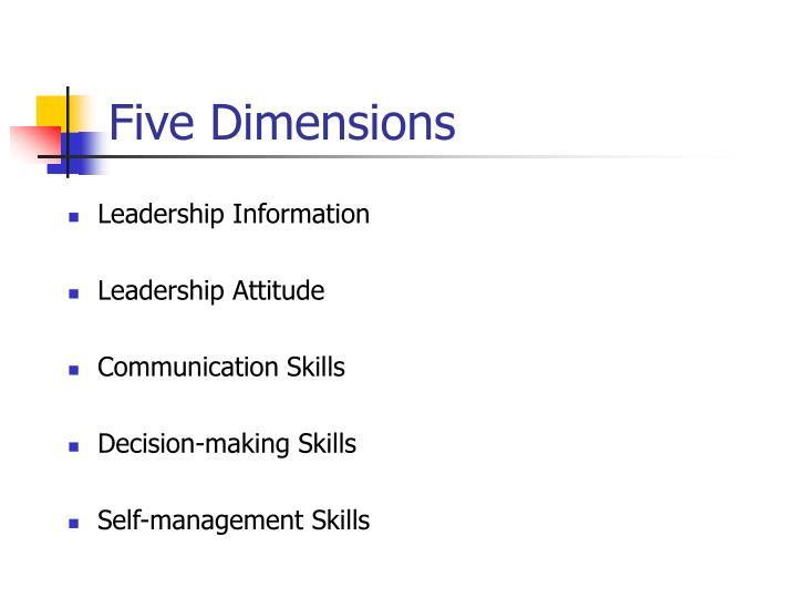Five Dimensions
