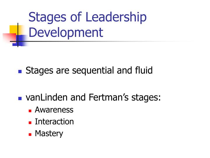Stages of Leadership Development