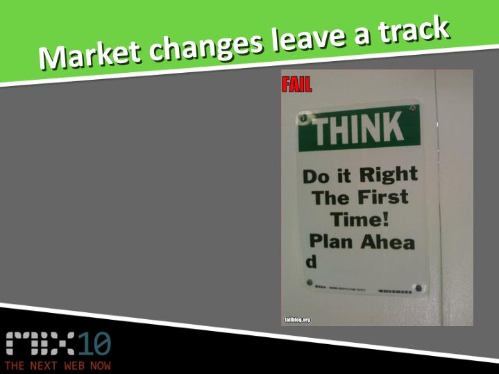Market changes leave a track