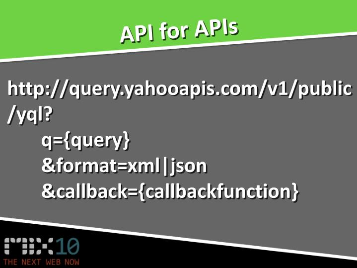 API for APIs