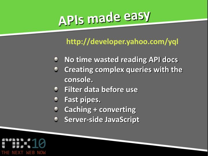 APIs made easy