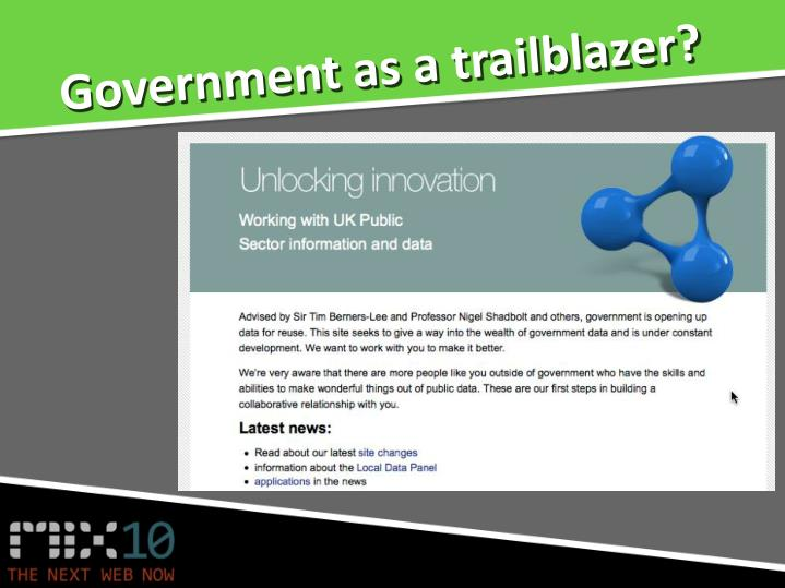 Government as a trailblazer?