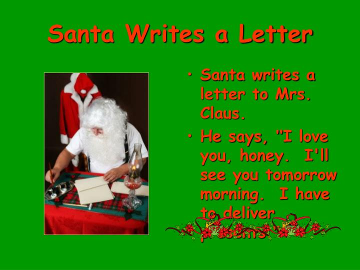Santa Writes a Letter