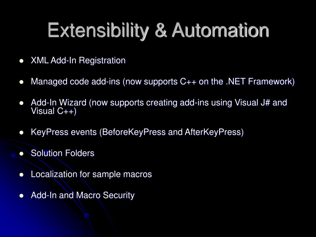 Extensibility & Automation