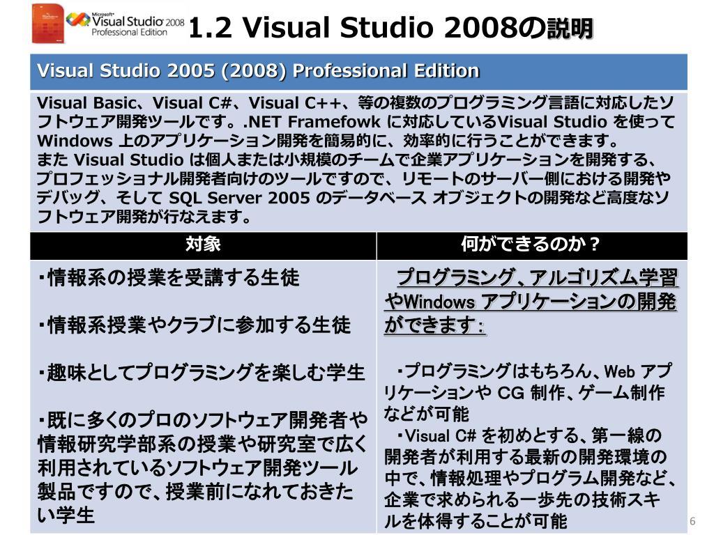 1.2 Visual Studio 2008