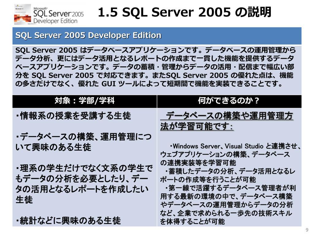 1.5 SQL Server 2005