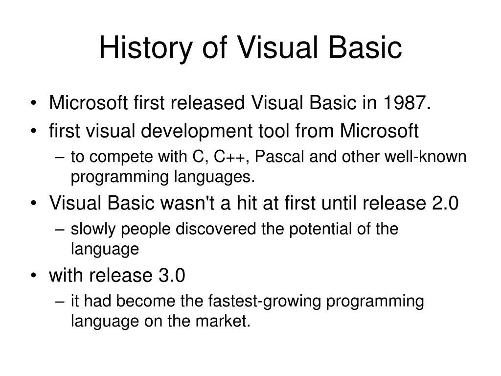 History of Visual Basic