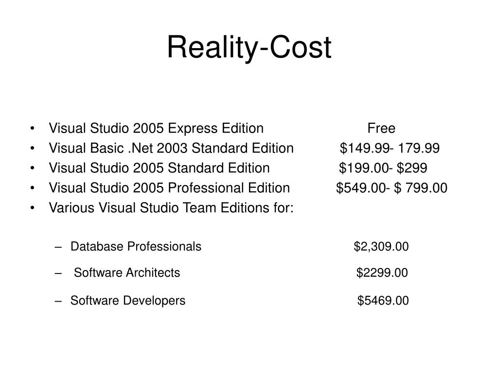 Reality-Cost