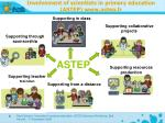 i nvolvement of scientists in primary education astep www astep fr