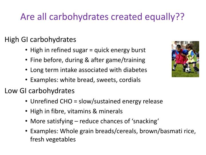Are all carbohydrates created equally??