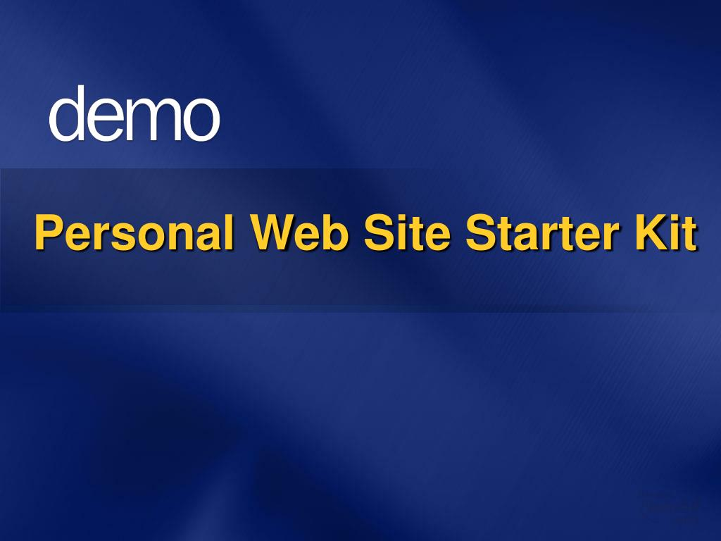 Personal Web Site Starter Kit