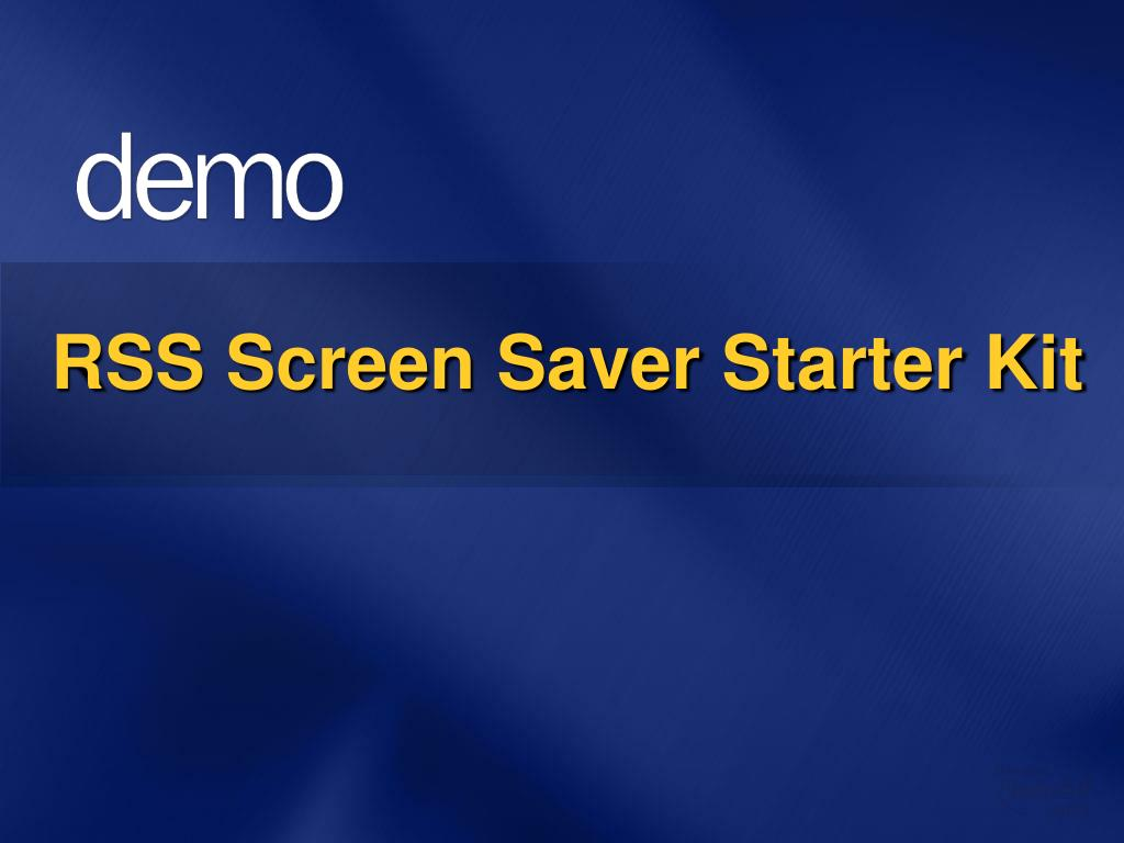 RSS Screen Saver Starter Kit