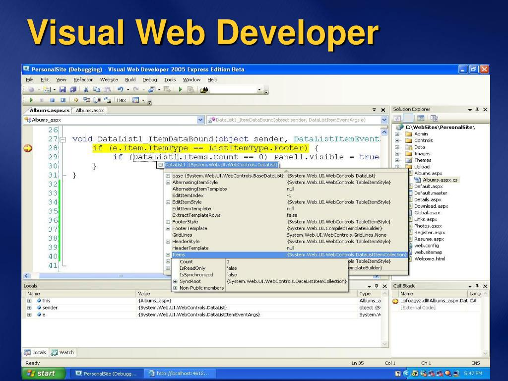 Visual Web Developer