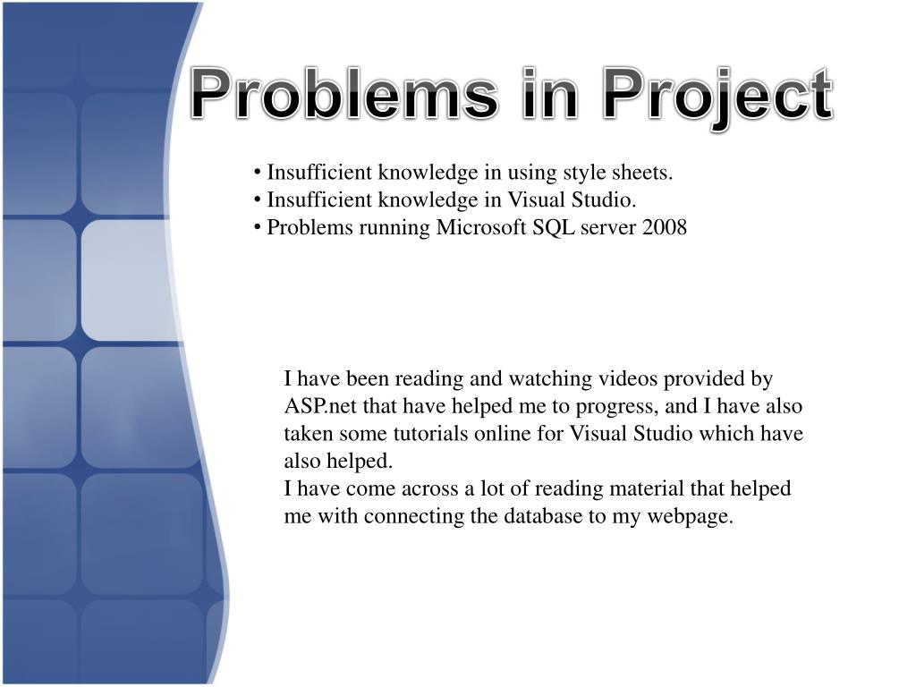 Problems in Project