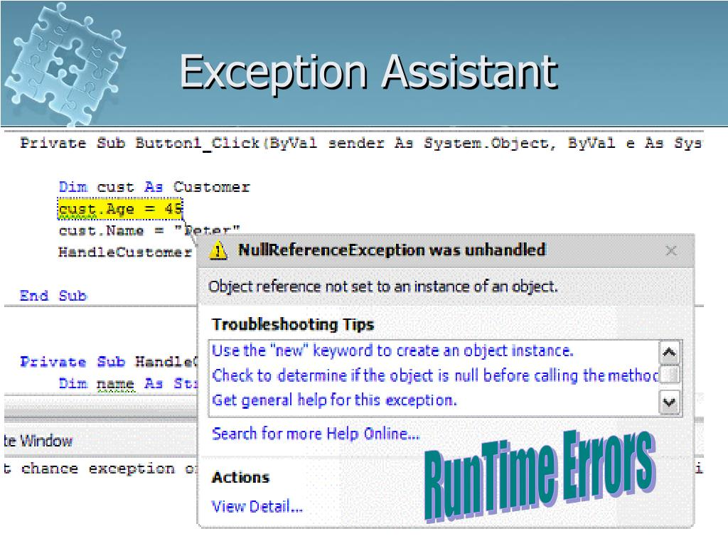 Exception Assistant