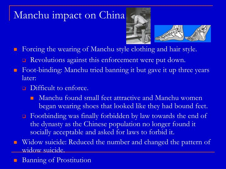 Manchu impact on China