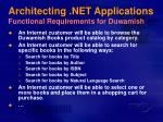 architecting net applications functional requirements for duwamish