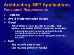 architecting net applications functional requirements