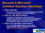 become a microsoft certified solution developer