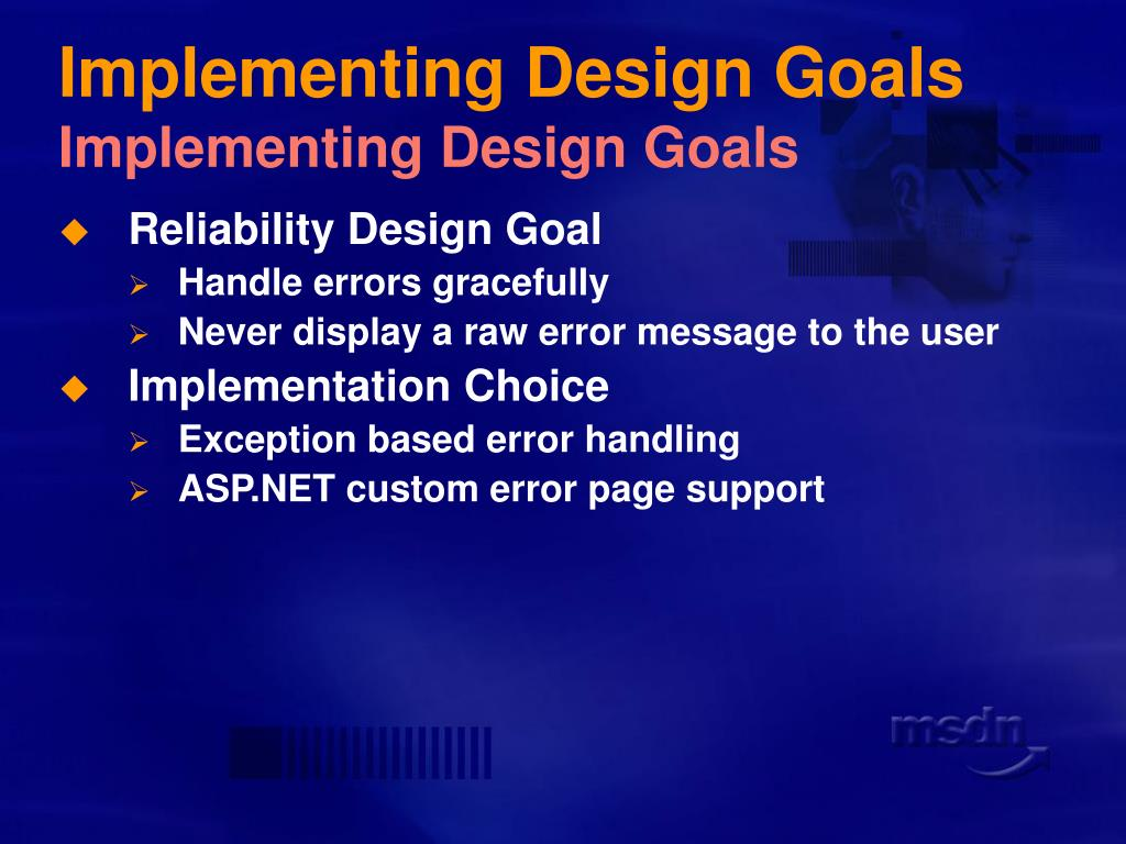 Implementing Design Goals