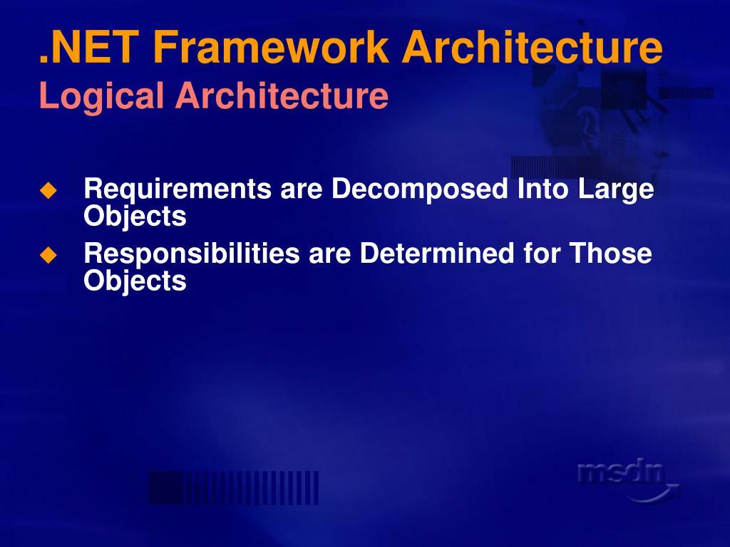 .NET Framework Architecture