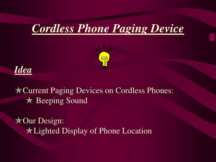 Cordless phone paging device1