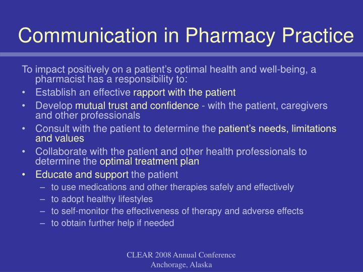 Communication in Pharmacy Practice