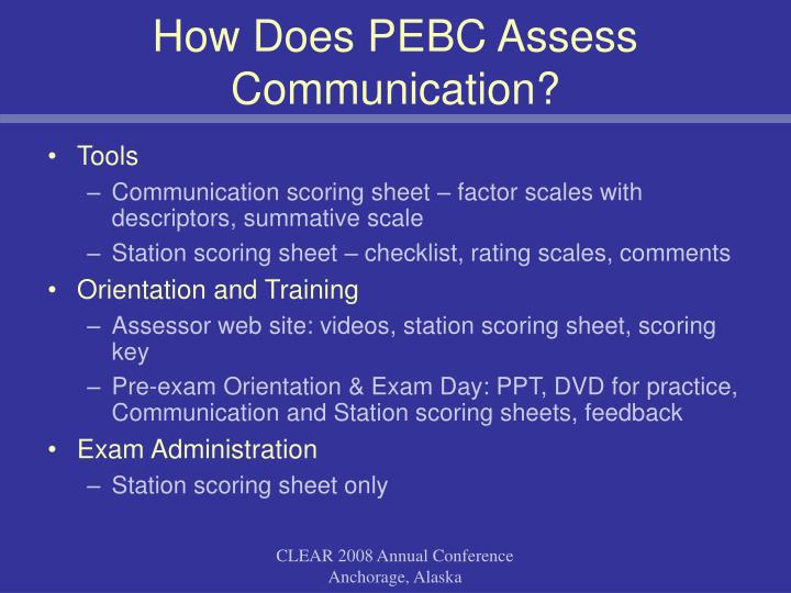 How Does PEBC Assess Communication?