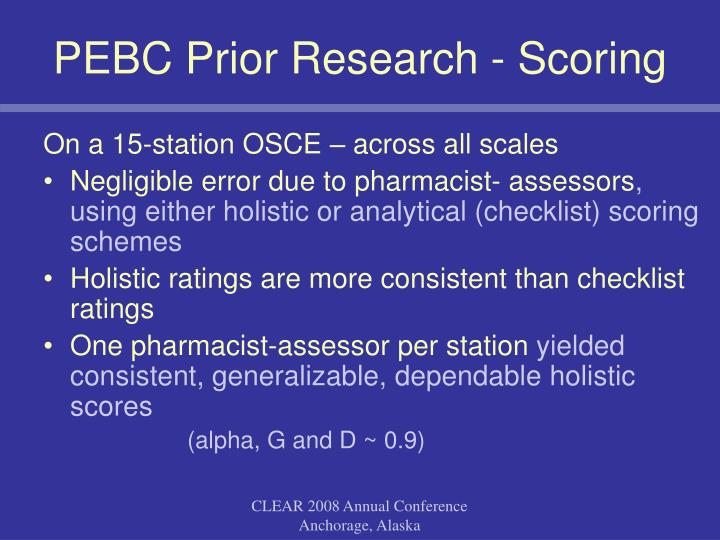 PEBC Prior Research - Scoring