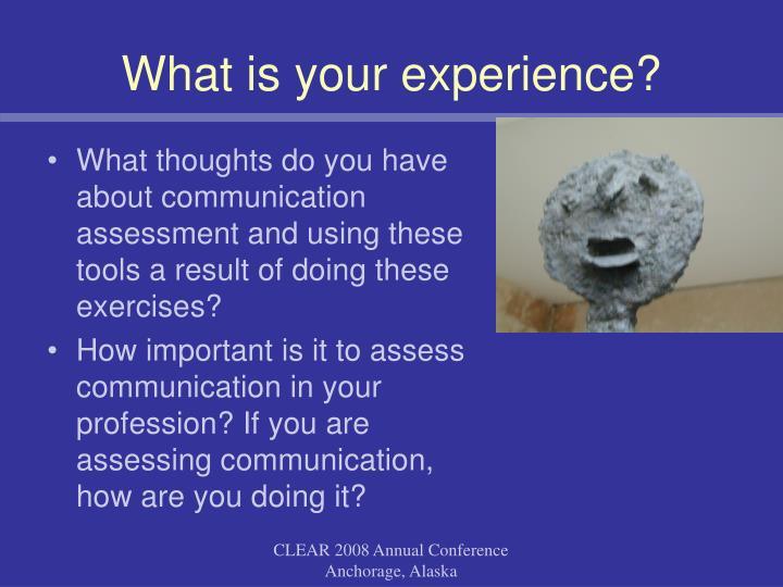 What is your experience?